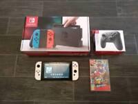 Nintendo Switch (White) & Extras