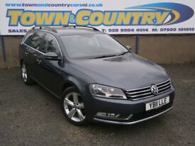 ***2011 Volkswagen Passat SE BLUEMOTION TECH ESTATE **FULL SH**£30 TAX**( avant touring a4 a6 320d