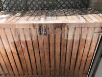 Wooden bin wheelie tidy - 3 bins