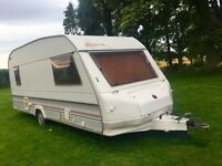 5 berth caravan,with full and half awning