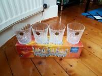 4 crystal tumblers