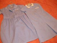 2 SCHOOL SUMMER DRESSES in blue check AGE 8-9 - PERFECT CONDITION (ladybird)