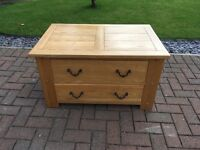 Halo Antibes Oak Chest Drawer Table