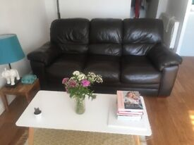 Gorgeous 3 seater real leather sofa