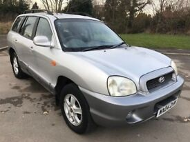 Outstanding Value 2004 Sante Fe GSI 2-4 Petrol 4x4 SUV ONLY 57000 Miles HPI C...