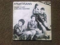 THE PARTISANS 45RPM No Future Label.