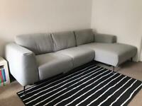 Beautiful Grey Marl L Shaped Corner Sofa