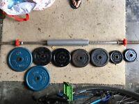 Bar bell weight set (40kg)