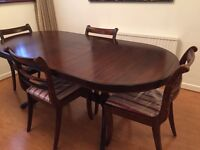 Mahogany Dining Table,Chairs & Sideboard