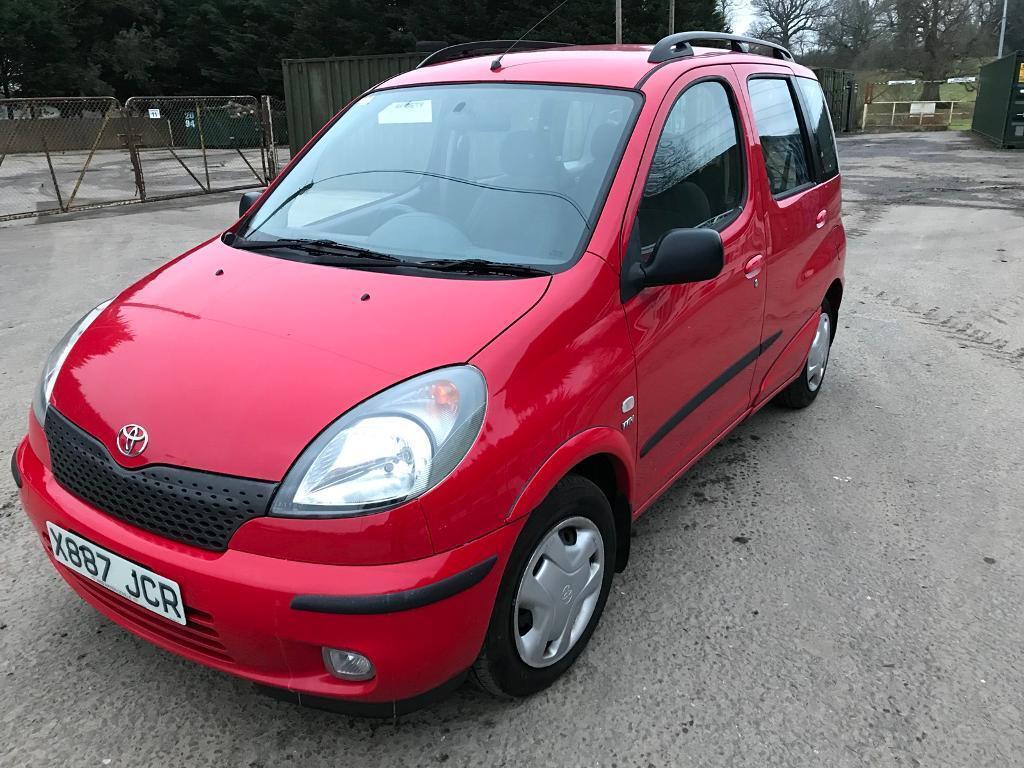 Toyota Yaris verso 1.3 petrol manual 118k miles x reg fsh new mot drives  well great car