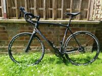 Radley X-trail Road Bike ( full carbon fibre frame, forks, bars and wheel set ) 1500 ONO