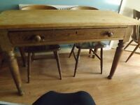 Pine Kitchen table and 6 chairs