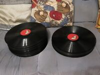 Job lot of 59 untested vinyl 78 rpm records (over 50 are His Masters Voice) + 8 Classical 33rpm