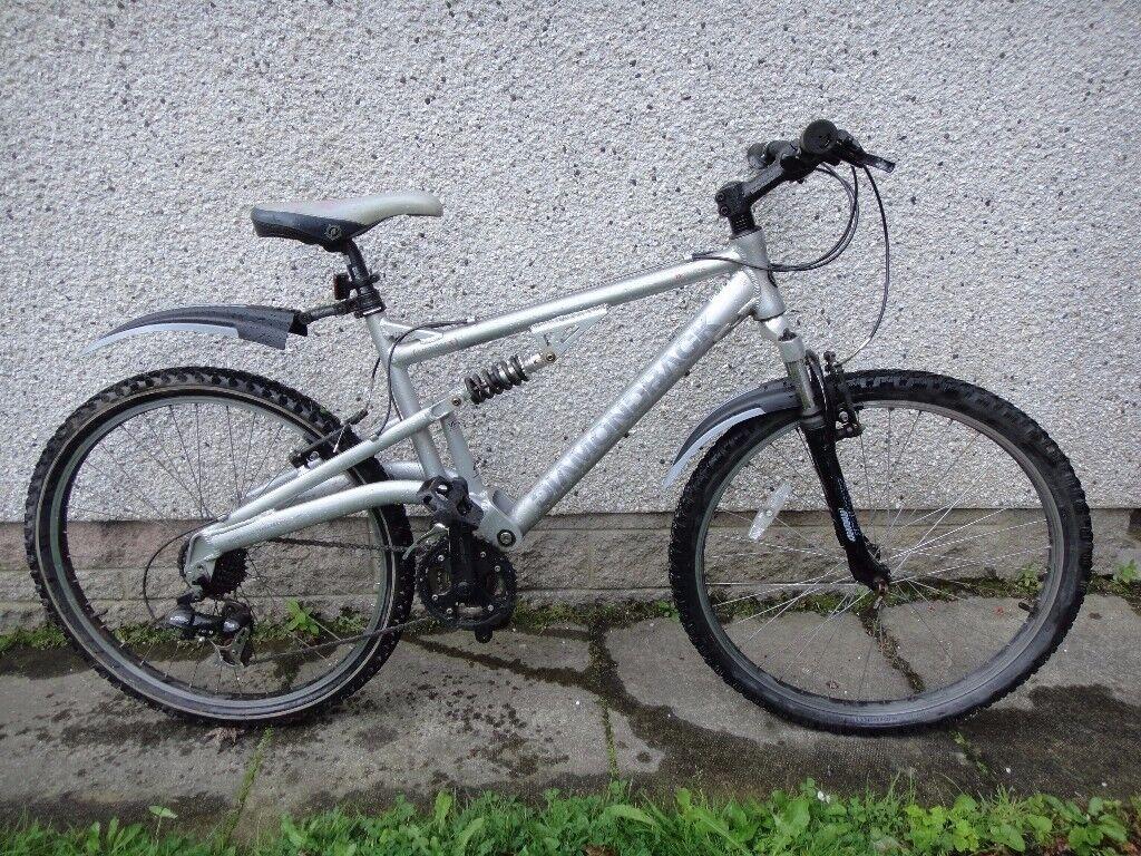 Diamondback outlook full suspension bike, 26 inch wheels, 21 gears, 18 inch aluminium frame