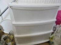 white, plastic cupboard