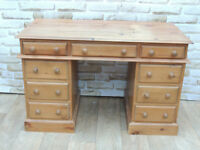 Pine Pedestal Desk 3 part (Delivery)