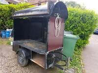 Catering display trailer. Potato, hog roast, bbq