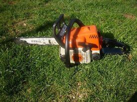 stihl ms180c chainsaw 14 inch bar in good running order