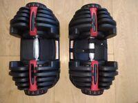 Adjustable weight dumbells 40kg