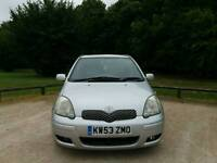 TOYOTA YARIS AUTOMATIC TSPRIT 2004 5DOOR 1LADY OWNER MOT TILL 18/06/2018 78000 WARRANTED MILES