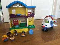 Fisher Price Little People Plane & House
