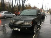 2007 Land Rover Range Rover Sport 3.6 TD V8 HSE 5dr black with leatherwith full service histroy
