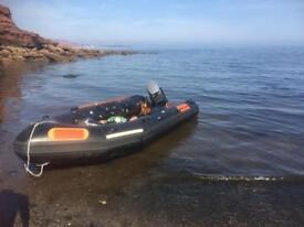 5m ex rnli boarding boat 50hp mariner