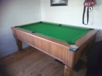 Pool table - slate bed very good condition