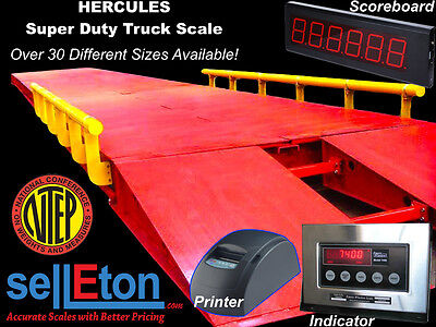 Truck Axle Scale Heavy Duty Capacity 100000 Lbs 17 X 10 Legal For Trade