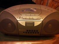 Sony CFD S200L CD Tape Remote Digital FM Stereo