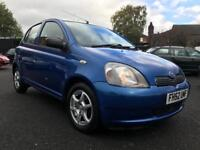 2003 TOYOTA YARIS 1.0 VVTI COLOUR COLLECTION ** ONLY 85000 MILES + 5 DOOR **