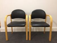 2 chairs for working, waiting room, etc