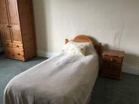 Nine single pine beds