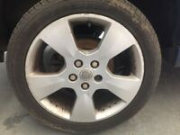 "17"" VAUXHALL ALLOY WHEELS WITH MINT TYRES!"