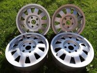 "Genuine Audi Forged 15"" Alloys/Wheels 5x112 A3 A4 A6 PASSAT GOLF 5 CADDY"