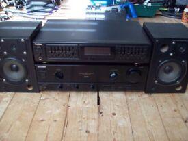 Sony amp Goodmans graphic & studio speakers