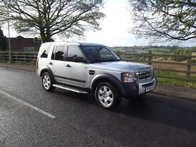 2005 55 PLATE LAND ROVER DISCOVERY 3 HSE 2.7TDV6 AUTO SILVER BLACK LEATHER FSH
