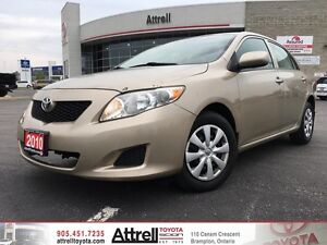 2010 Toyota Corolla CE. Keyless Entry, A/C, Bluetooth.