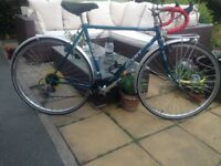 Vintage retro giant trooper 21 speed road bike,54cm frame,,exage 300 gears,dual brakes,mudguards