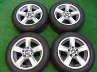 """BMW 1 3 SERIES 16"""" ALLOY WHEELS WITH PIRELLI RUNFLAT TYRES 205/55R16"""