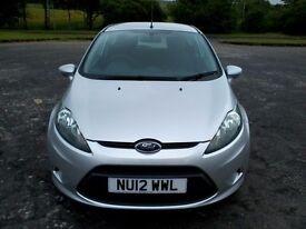 2012 (12) Ford Fiesta Studio 1.4 TDCI, 3 Door Hatchback, only £20 a year Road Tax £4495 OVNO