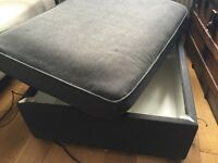 IKEA Kivik Footstool with storage medium/dark grey