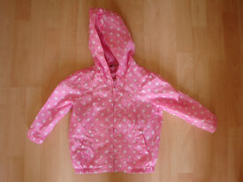 GIRLS PINK AND WHITE RAINCOAT 18 MONTHS – 2 YEARS