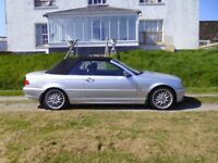 2000 BMW 323ci 2.5L Manual Petrol Convertible in Silver 94k miles £2150 ono