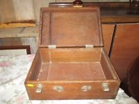 old wooden storage boxes
