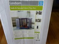 Lindam Safe & Secure Fabric Play Pen / Room Divider