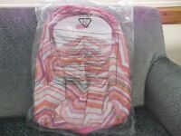 Brand New Animal Backpack, Vibrant Striped Design in Pinks/Oranges/Jade and White