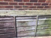 8 fence panels 6x3