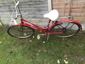 Vintage bike red