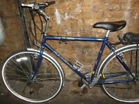 "RADFORD HANBUILT HYBRID BIKE 19""FRAME 18 SPEED"